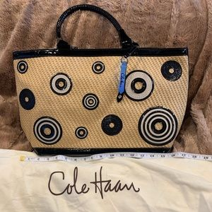 NWOT Cole Haan Weave / Patent Leather Tote